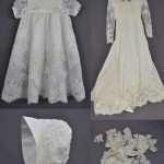 Meaghan Milmoe sent her mother's wedding dress and some lace from her Mother-in-Law's wedding dress to have a christening gown made for her daughter. There is something very special about having your daughter wear a gown that was made from the fabrics of both her grandmothers' wedding dresses.