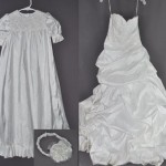 Heather Petro had us use her wedding dress to make a christening outfit for her daughter.