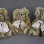 These bears are all fluff. Ed LaCroix sent his late wife's coat to have these made for his granddaughters.