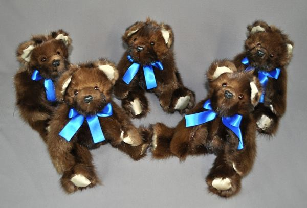 MB-TanyiM-five memory bears converted from fur coat