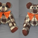 "Todd Thompson sent his late grandfather's robe to have these lovely 24"" bears made for his two daughters."