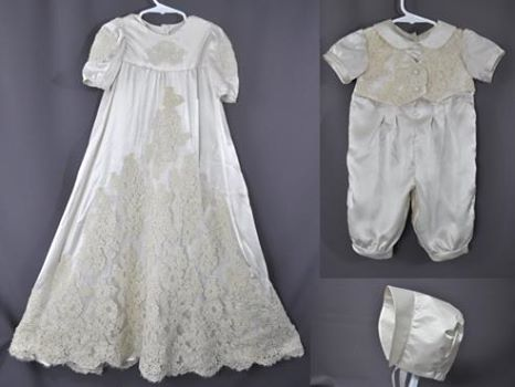 baptismal gown made from wedding dress
