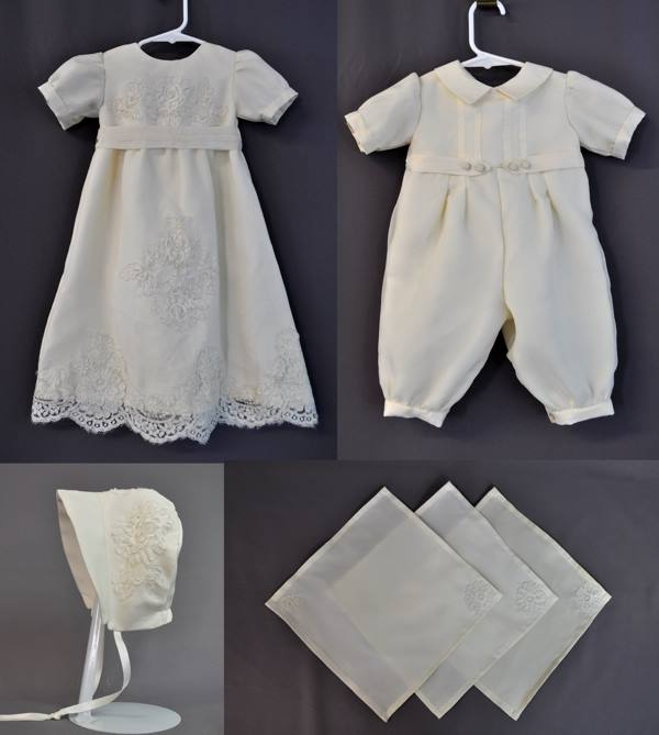 Lace Highlights Christening Gown Made From Wedding Gown