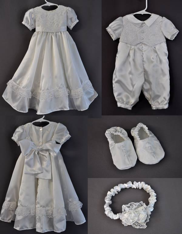 ef3cdbf9a603 Grandma's Wedding Dress Converted Into Lovely, Lacey Baptism Gown