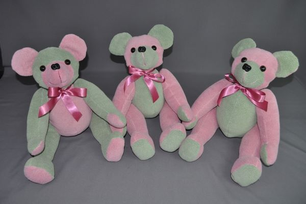 Three Memory Bears for Three Special Friends